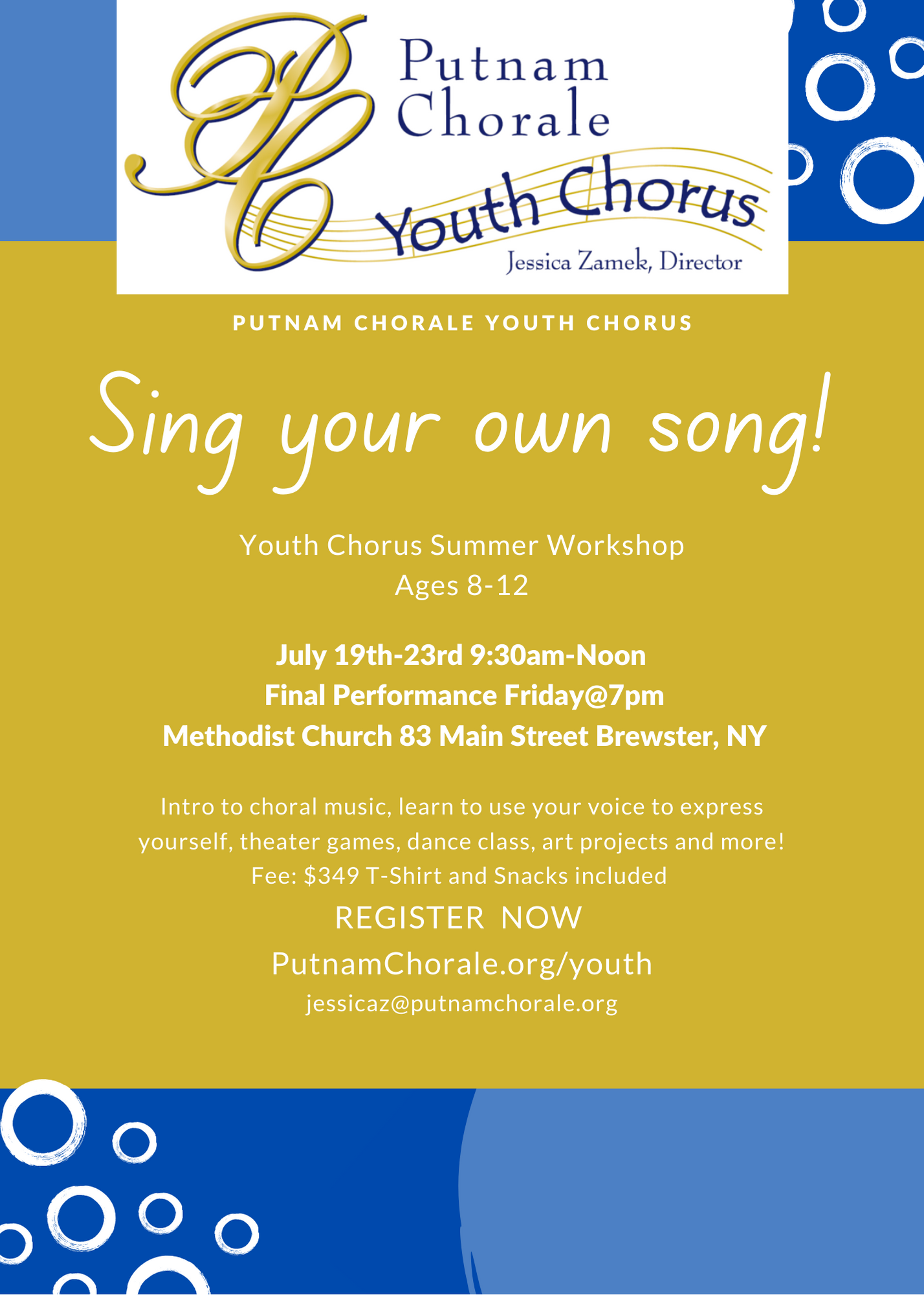 Putnam Chorale Sing Your Own Song