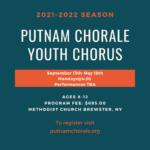 Registration: Putnam Chorale Youth Chorus 2021-22 Season