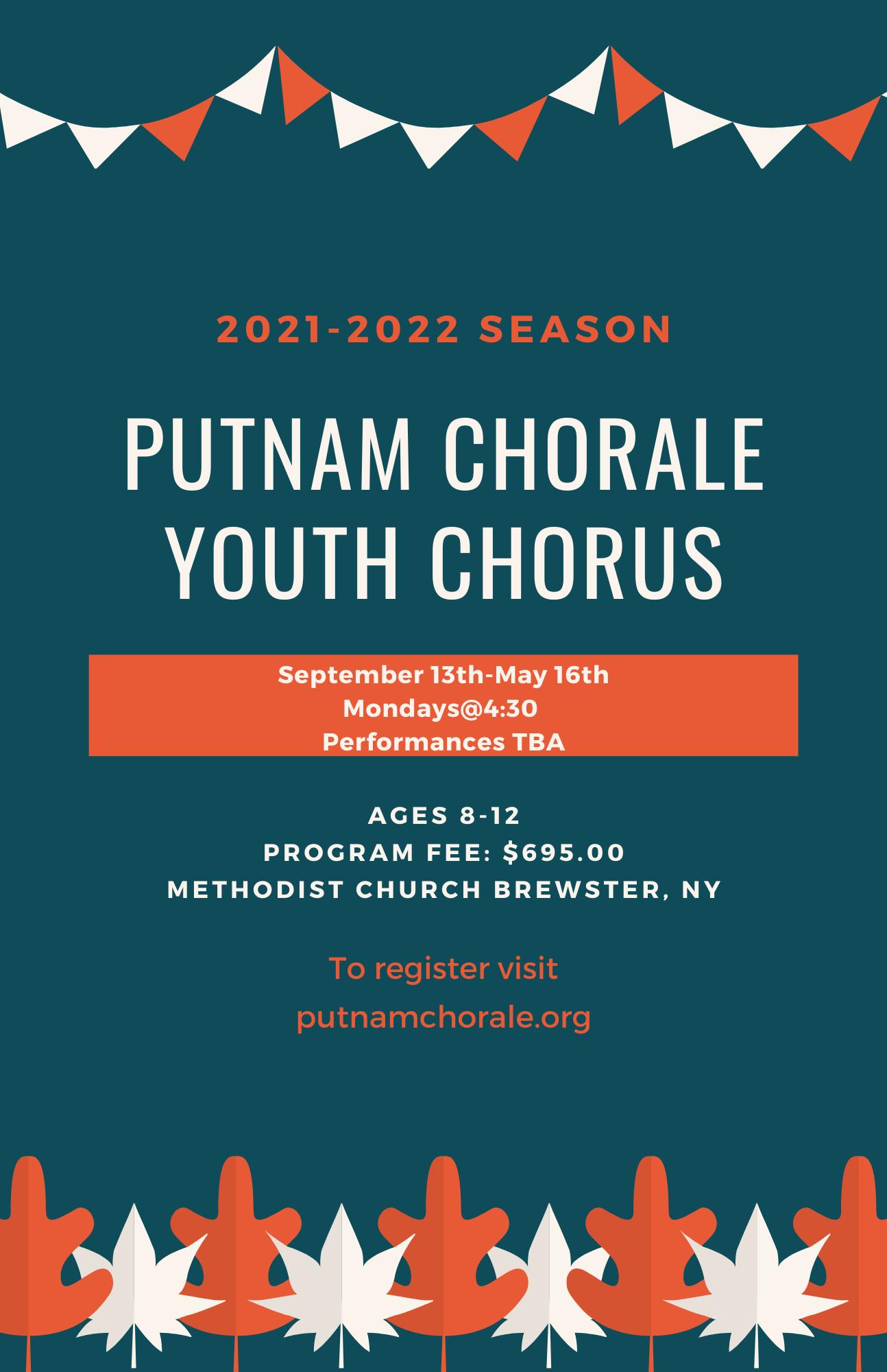 Putnam Chorale Fall Concert Festival Flyer