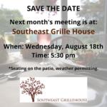 August Dinner Meeting