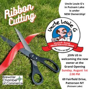 Ribbon Cut Uncle Louie G