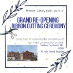 Brewster Library Grand Re-Opening Ribbon Cutting Ceremony